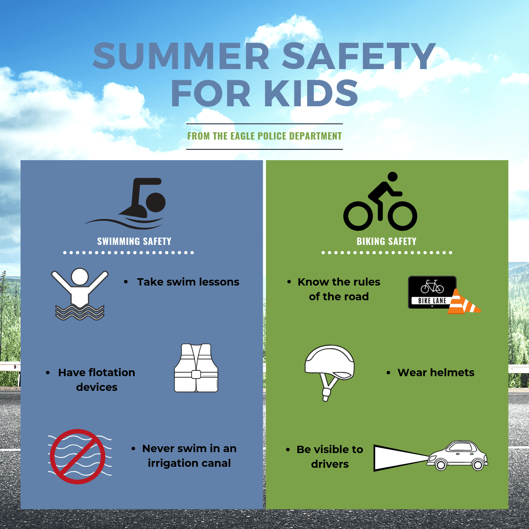 Summer Safety For kids graphic