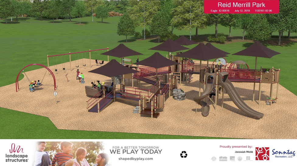 merrill park play structure rendering