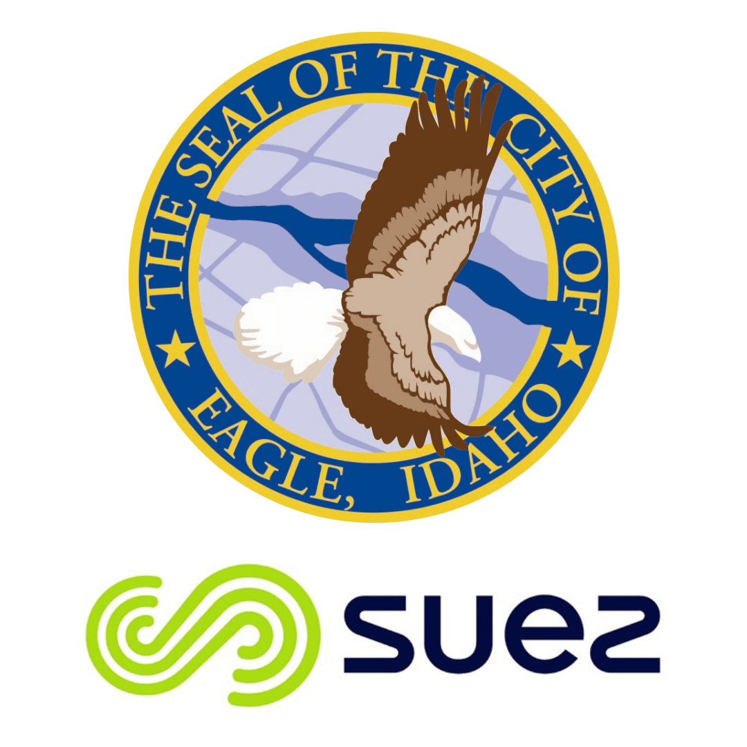 City of Eagle Seal and Suez Logo