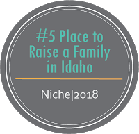Number 5 Place to Raise a Family in Idaho Niche, 2018
