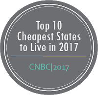 Top 10 Cheapest States to Live In CNBC, 2017