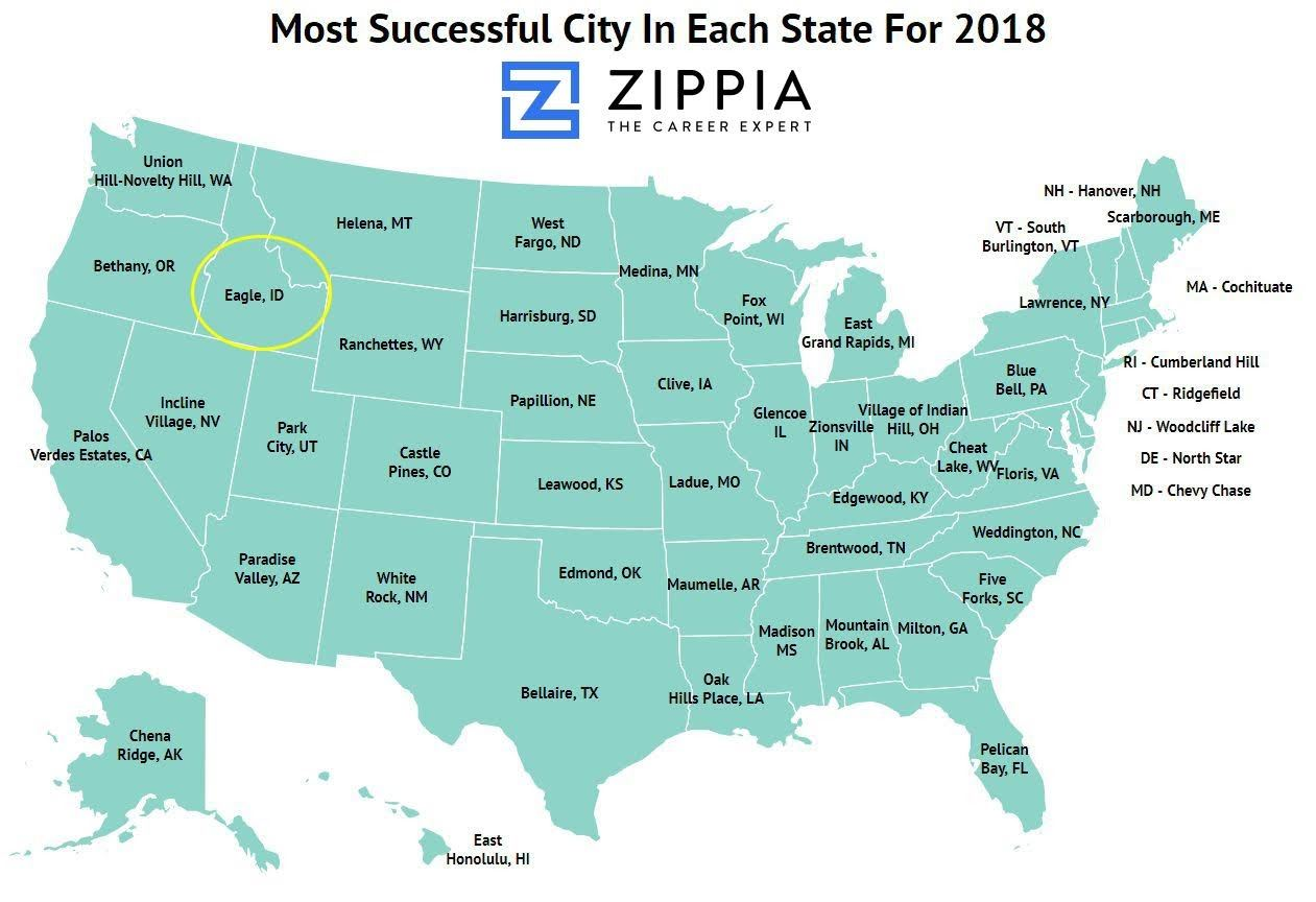 Most Successful City in Each State 2018 Opens in new window