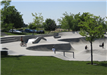 Skaters in and around a Skatepark Bowl