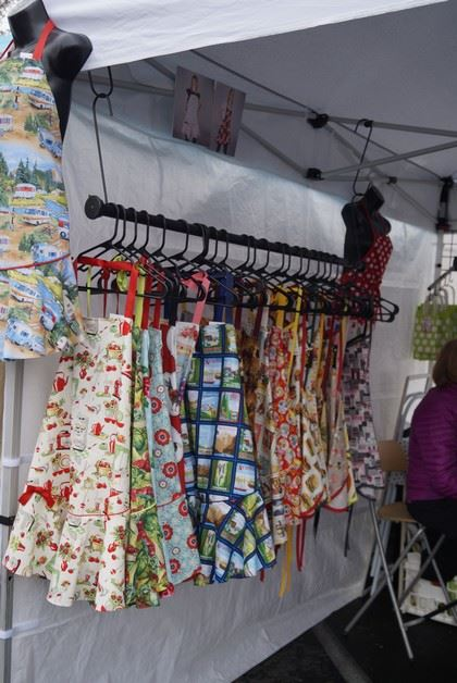 Aprons Hanging in a Tent