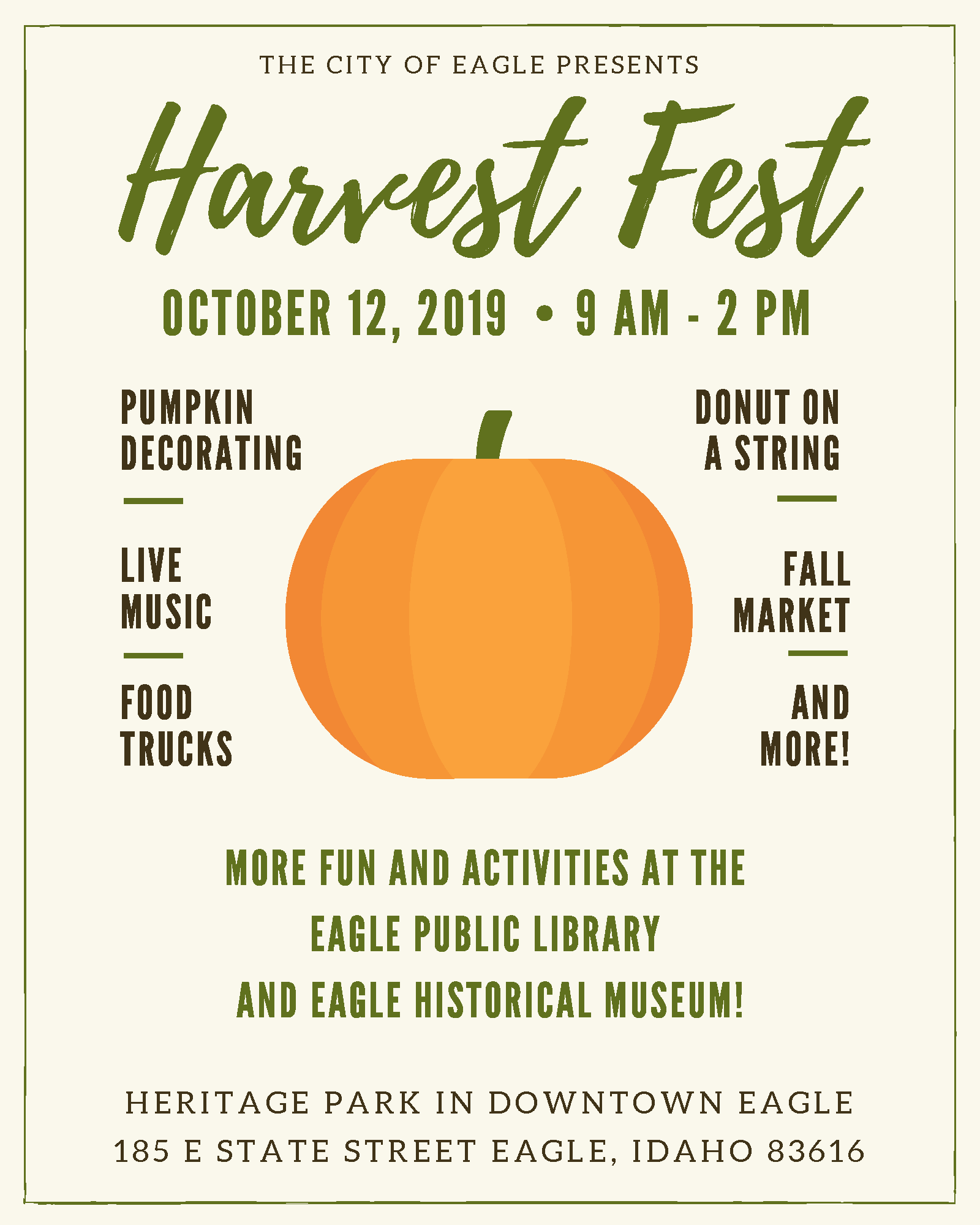 Harvest Fest 2019 Activity Guide