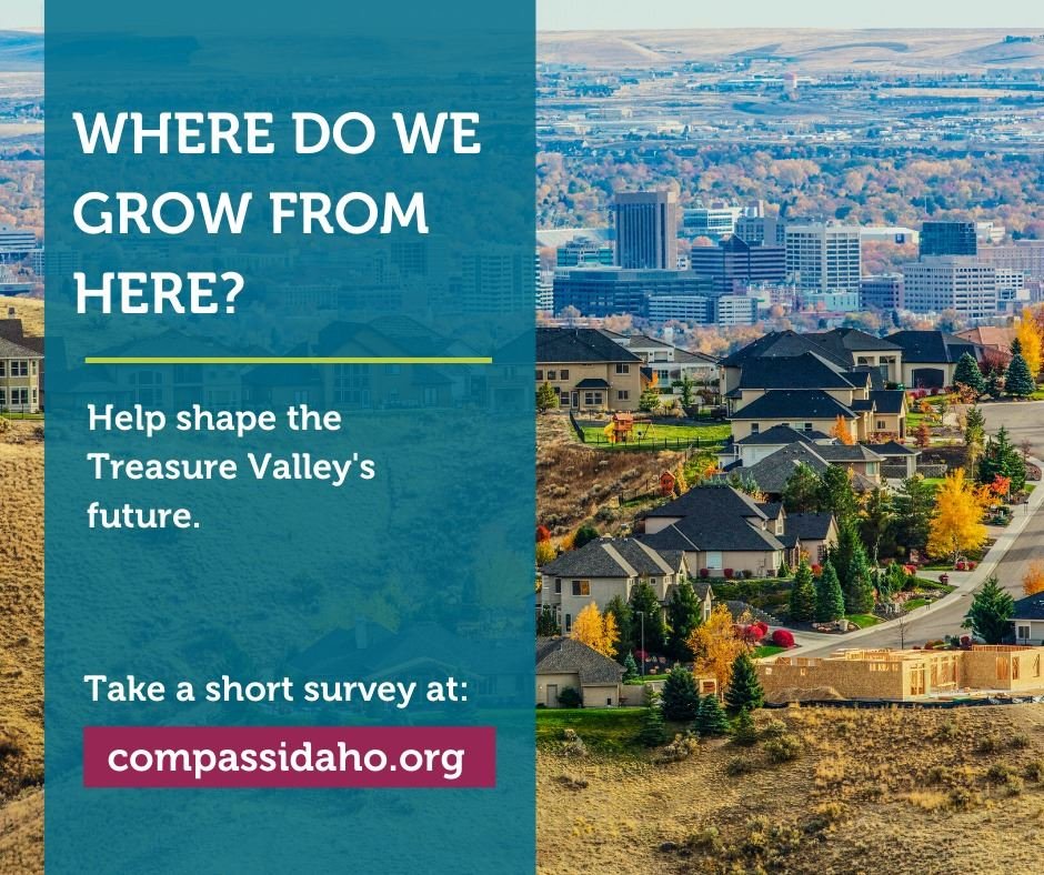 Photo of the foothills and valley that says &#34Where do we grow from here? Help shape the Treasure