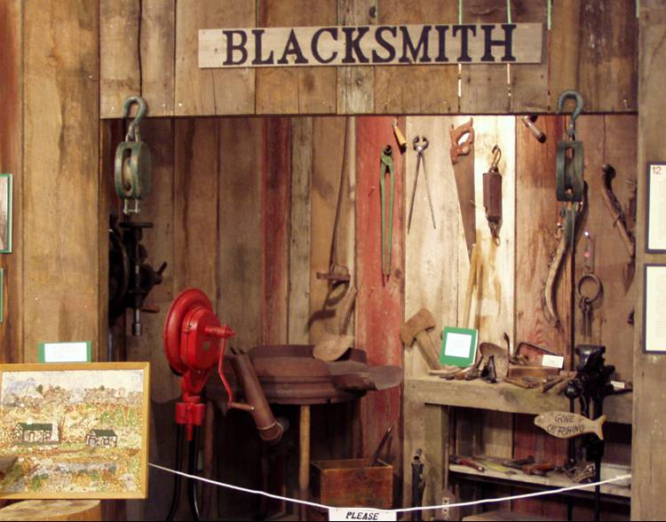 Blacksmiths Workshop Alcove at Museum